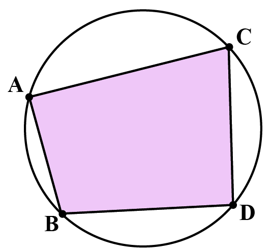 ABCD is a cyclic quadrilateral.