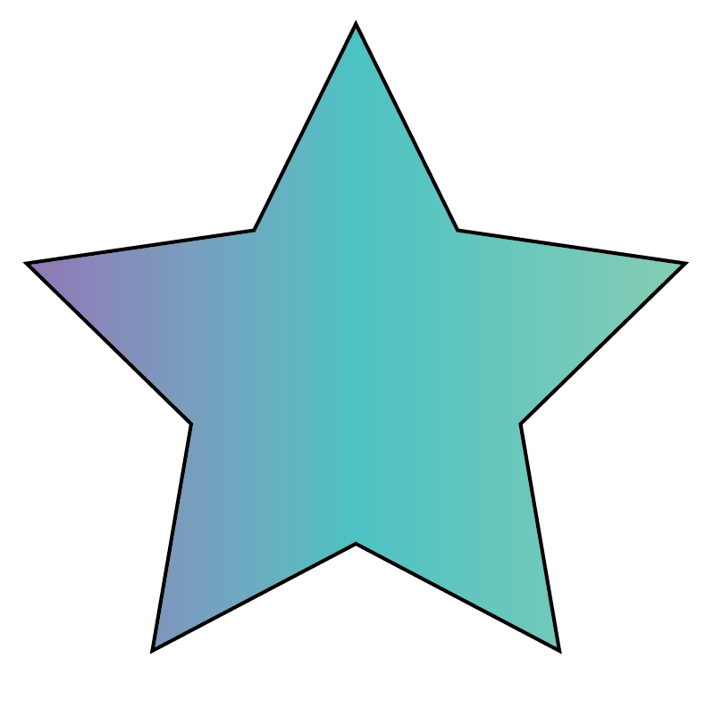 A star is an example of a concave shape.