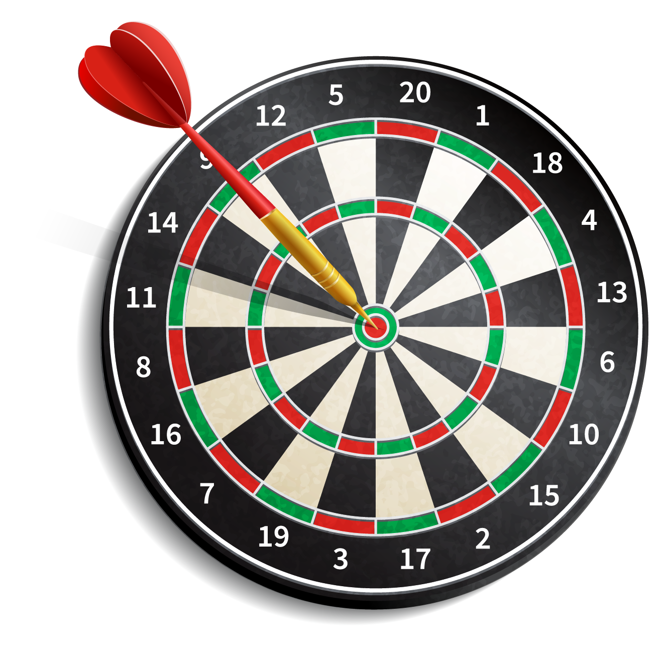dartboard is an example of concentric circles
