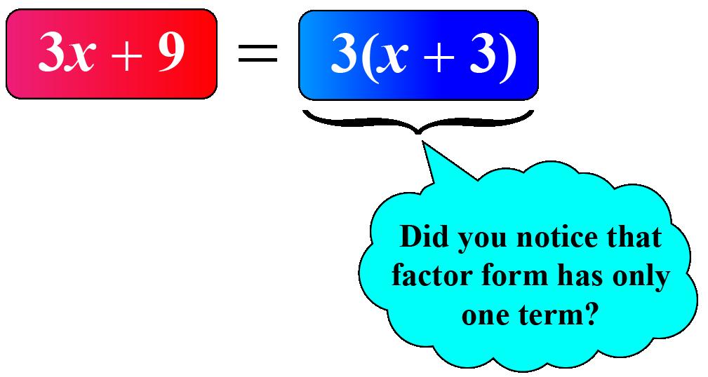 Factors of 3x+9