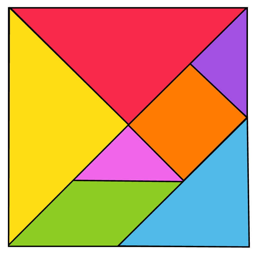 The image of 7-piece tangram
