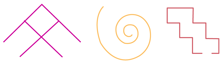 Example of open shapes