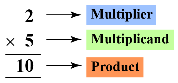 multiplication statement in a vertical way