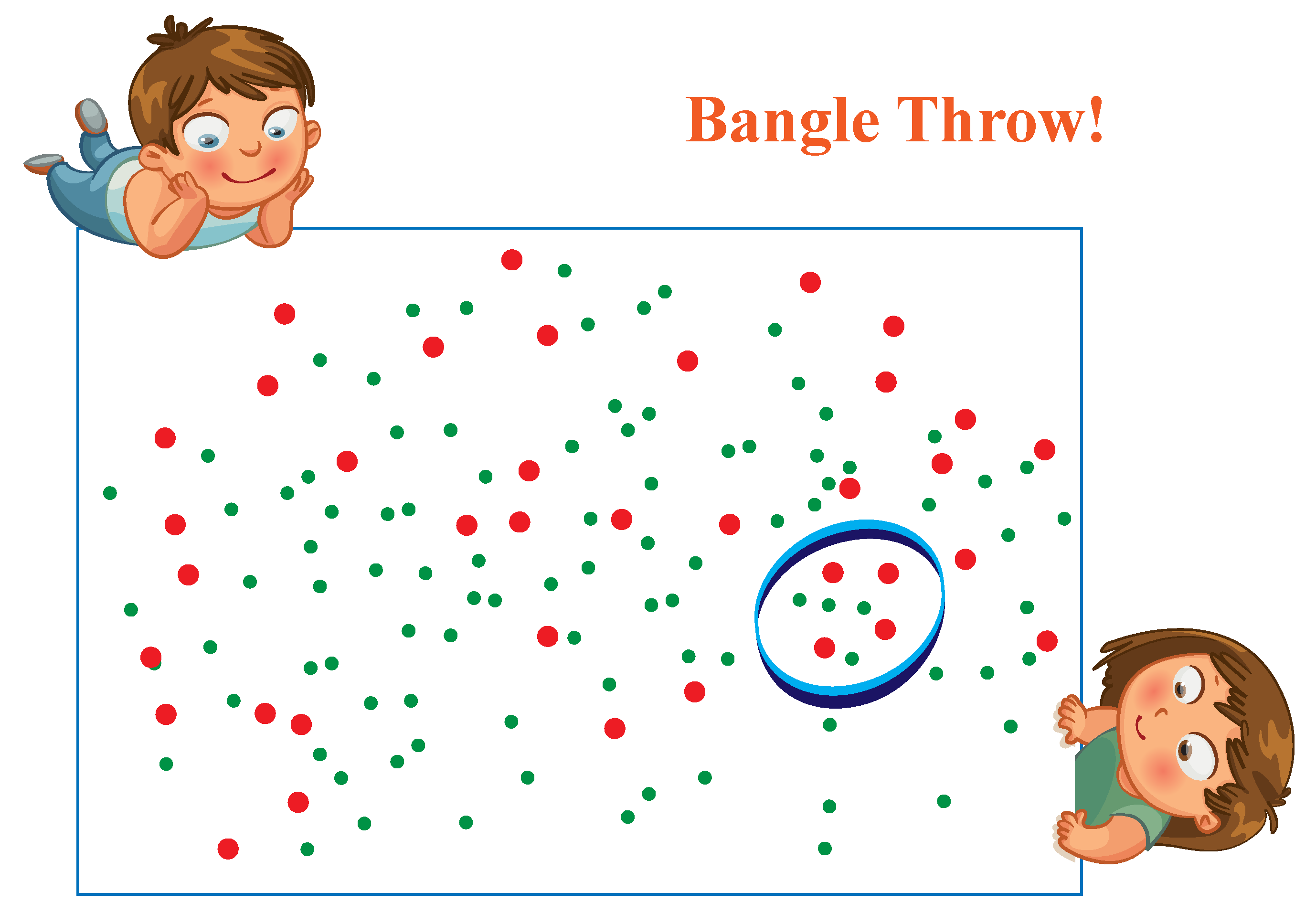Example for number in words: Jack and Ginny play the bangle game and count the dots inside the bangle.