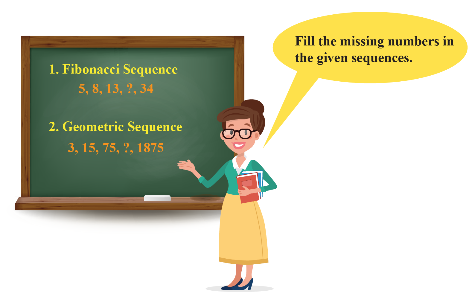 Examples of Fibonacci and Geometric sequence