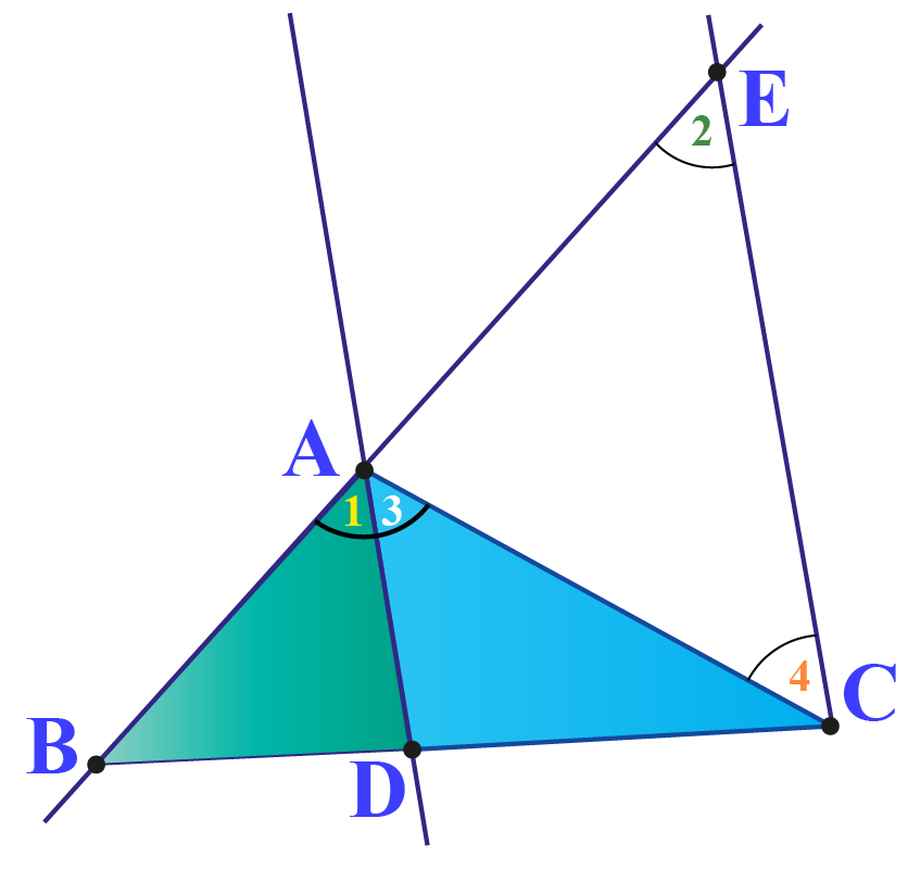 Proof of Triangle angle bisector theorem