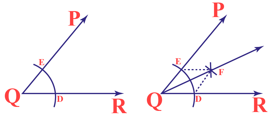 OF is the bisector of angle PQR