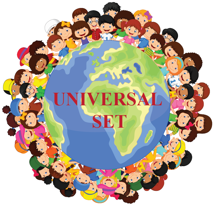 universal set is the set of all the people in the world.