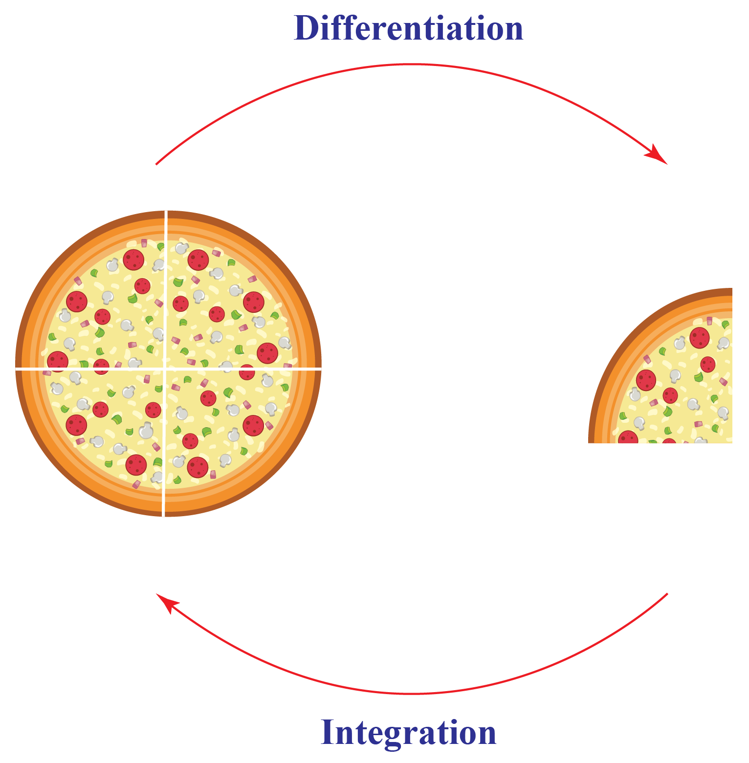Integration is reverse process of differentiation
