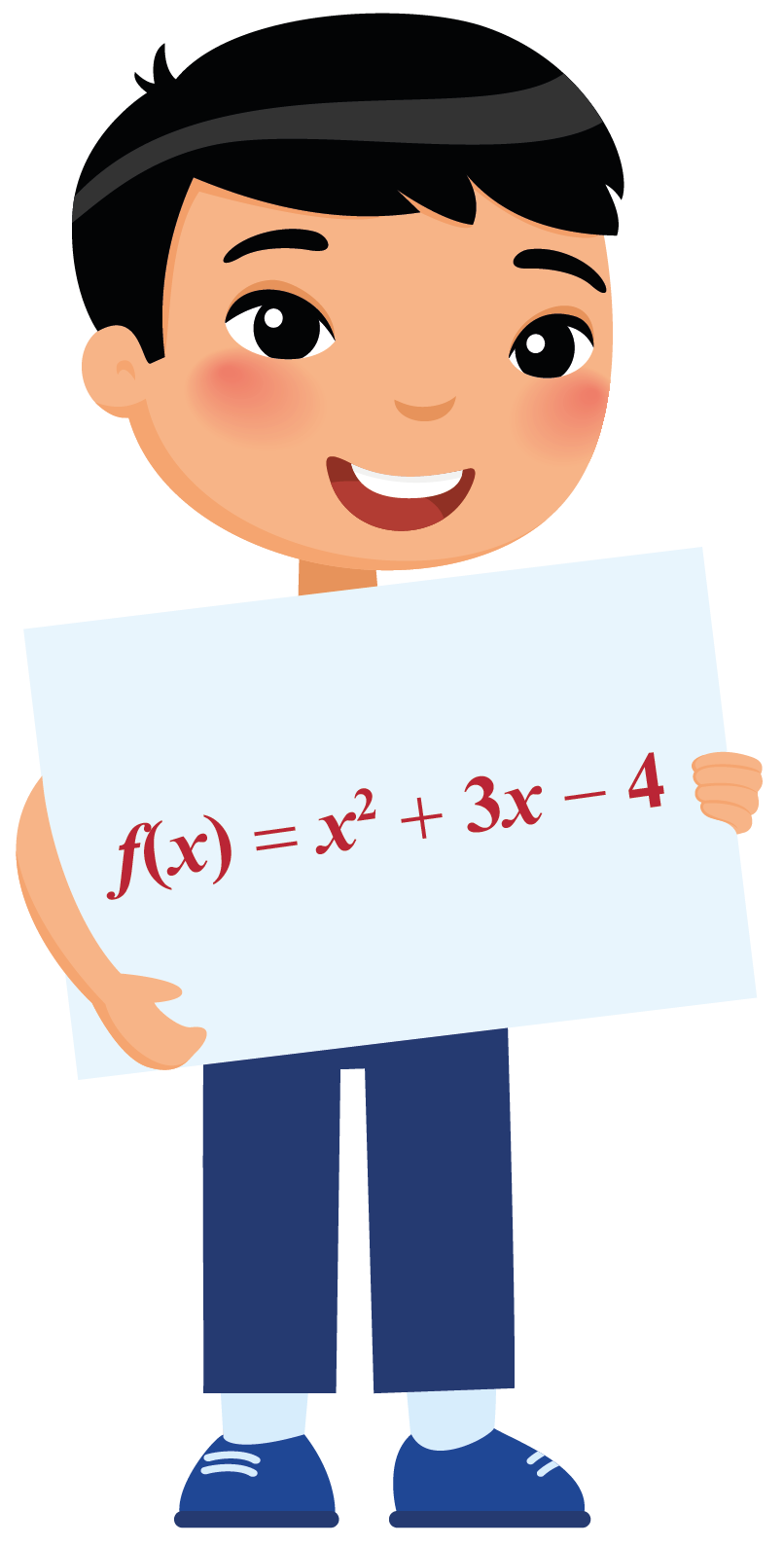Jack shows a quadratic function. Find the discriminant