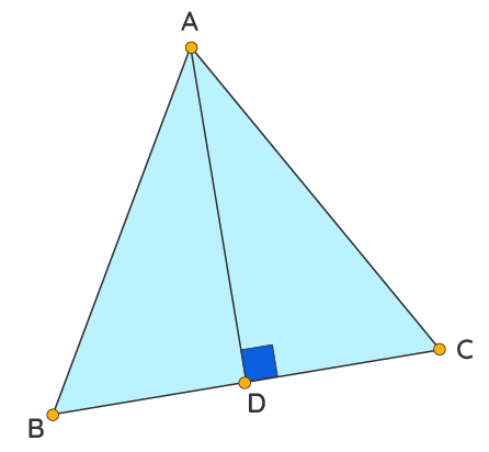 Medianof an Equilateral Triangle: Show(AD)2= 3(BD)2