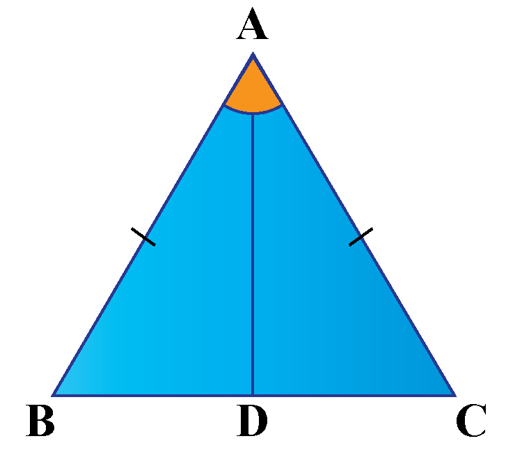 Triangle ABC with angle bisector AD