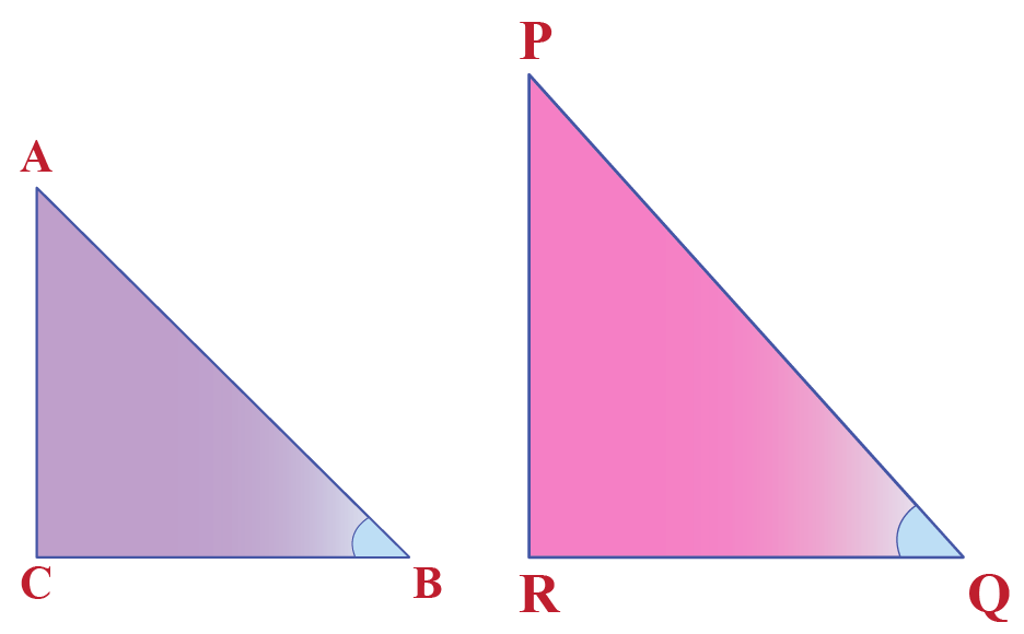 two right angled triangles