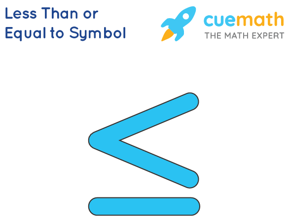 Less than or equal to symbol