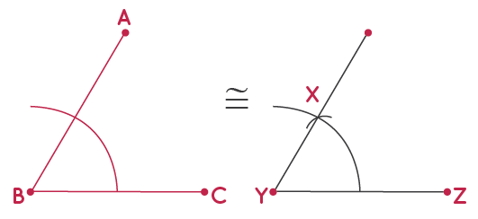 construction of congruent angle to a given angle step 6