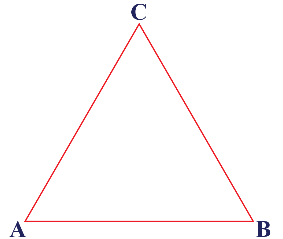 An example of a triangle ABC