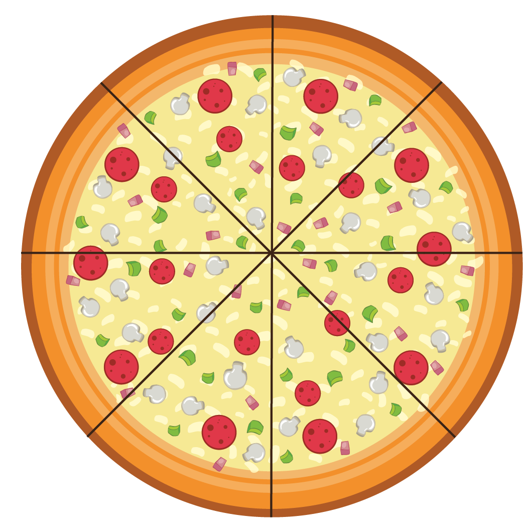 pizza - measure the angle of a slice