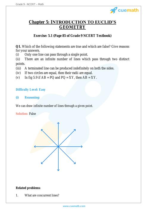Introduction to Euclids Geometry Maths NCERT Solution free Download