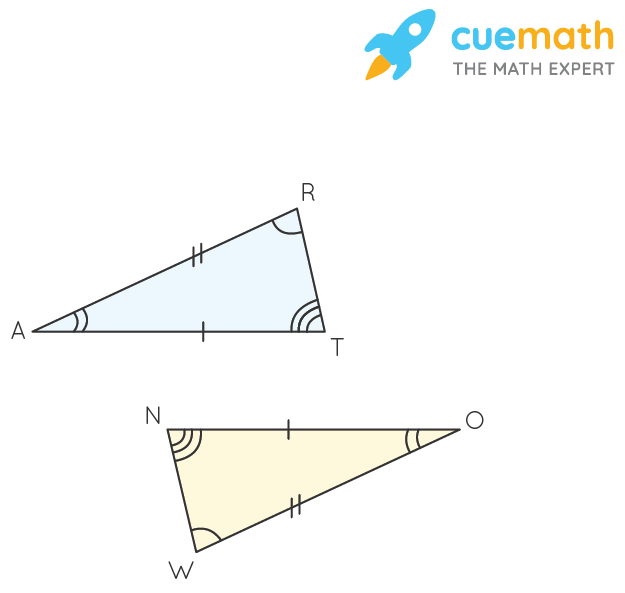 In the figure, the two triangles are congruent