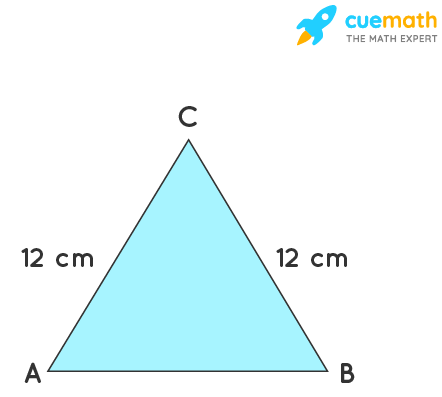 An isosceles triangle has perimeter 30 cm and each of the equal sides is 12 cm. Find the area of the triangle.