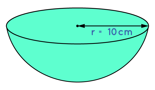 Find the total surface area of a hemisphere of radius 10 cm. (Use π = 3.14)