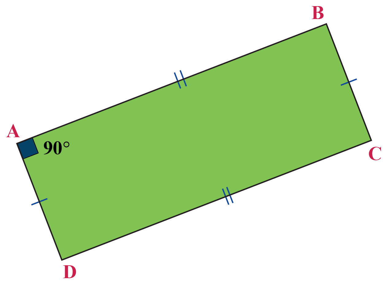 One angle of the parallelogram ABCD is 90 degrees.