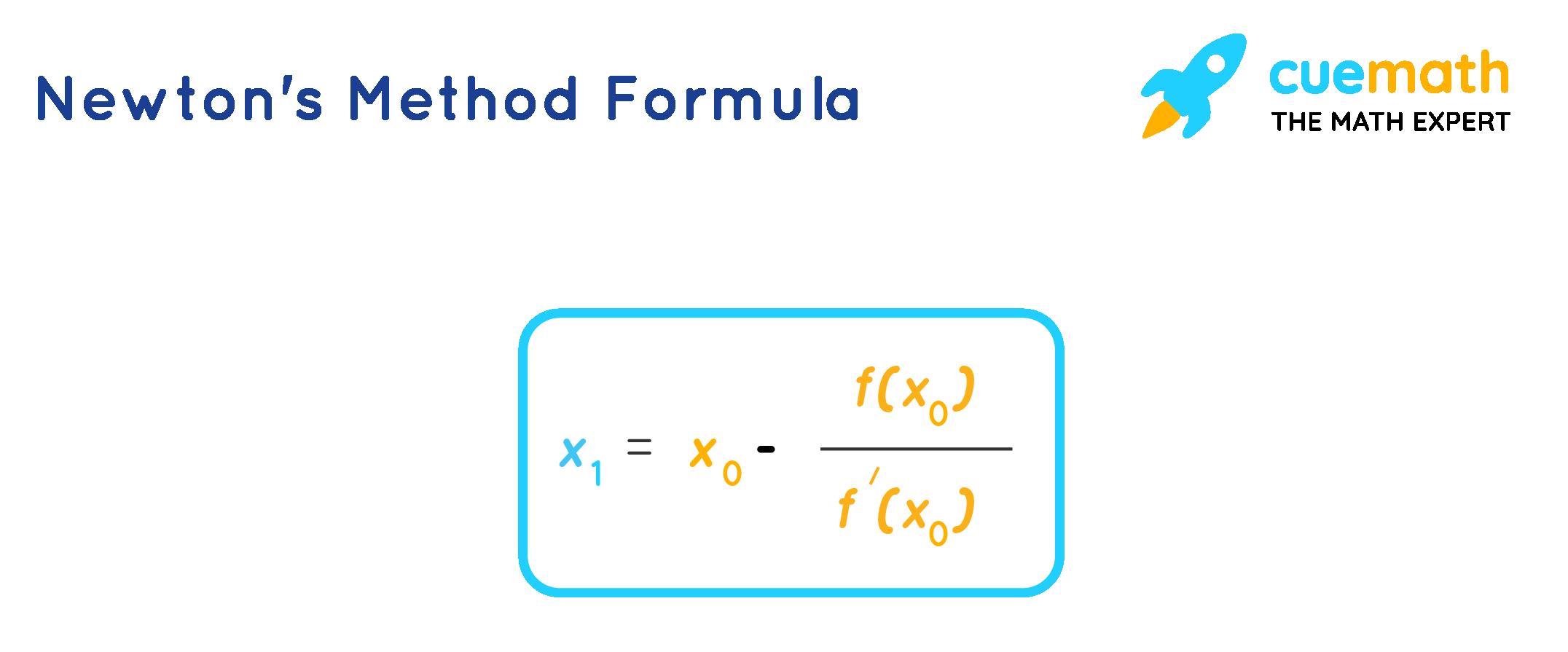 Newton's method formula