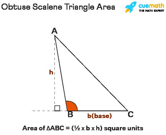obtuse scalene triangle area