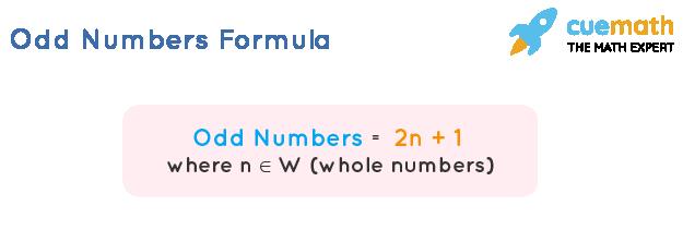 odd numbers formula