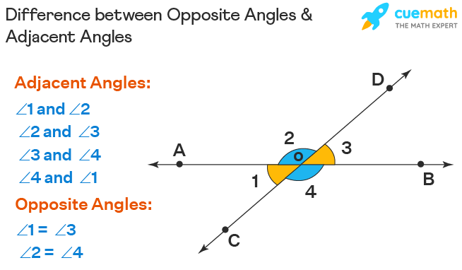Difference Between Opposite Angles and Adjacent Angles
