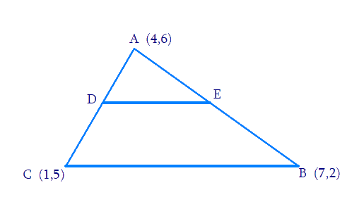 Calculate the area of the ∆ADE and compare it with the area