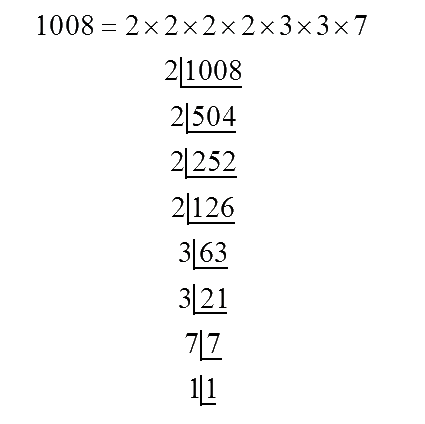 Prime factors of 1008
