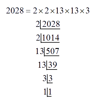 Prime factors of 2028