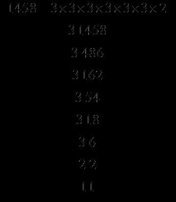 Prime factors of 1458