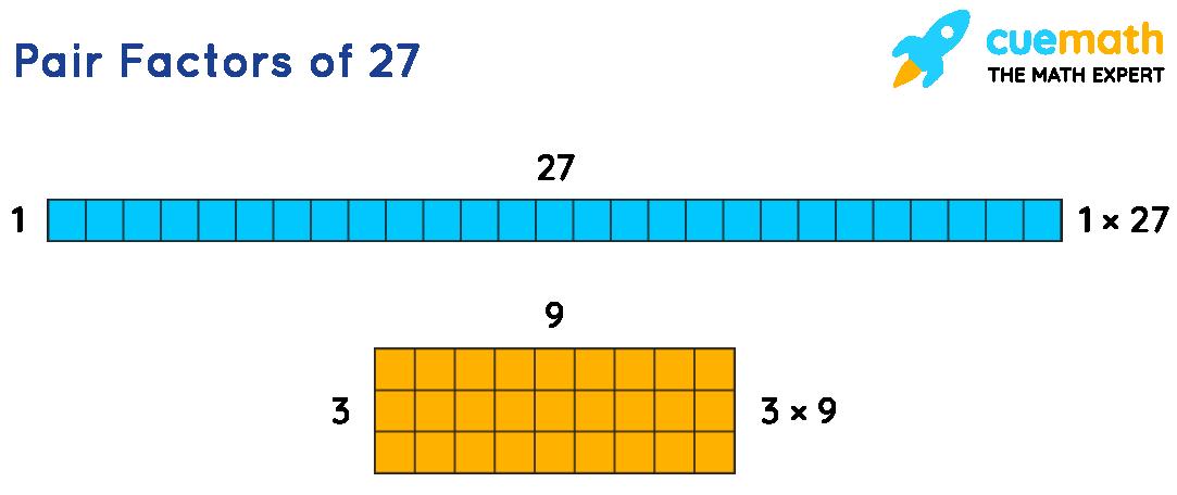 Factors of 27: Pair factors of 27