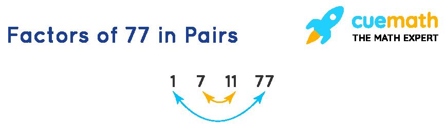 Pair Factors of 77