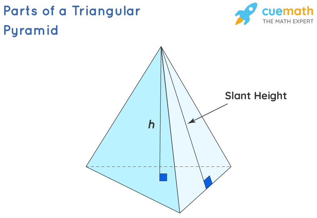 parts of a triangular pyramid