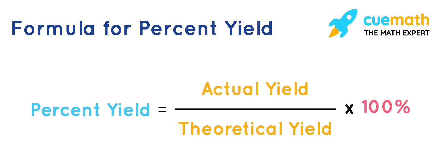 Formula for Percentage yield