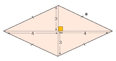Perimeter of rhombus with diagonals given
