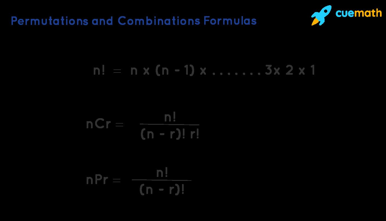 permutations and combinations formulas