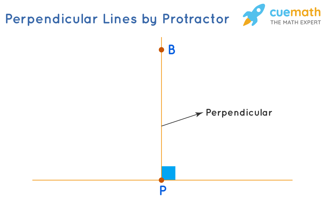 Drawing a perpendicular using a protractor