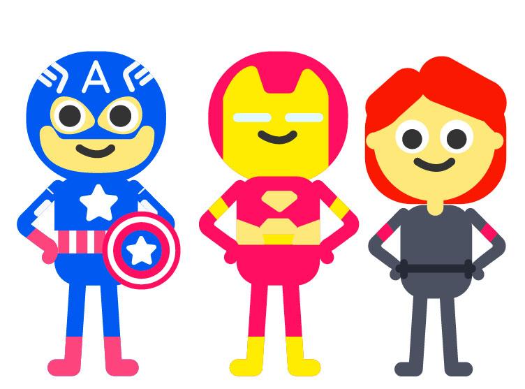 marvel cartoon characters