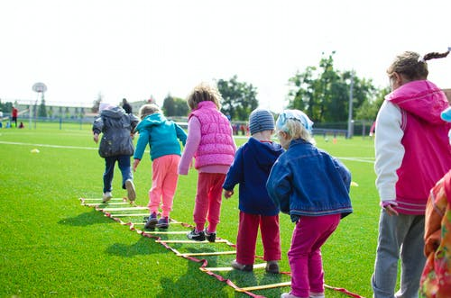 kids playing hopscotch: fun exercises for kids