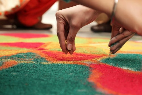 Simple and easy rangoli designs for home