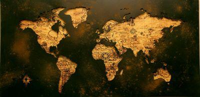 map of world using trigonometry