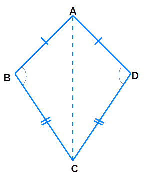 Draw a rough figure of a quadrilateral that is not a parallelogram but has exactly two opposite angles of equal measure.