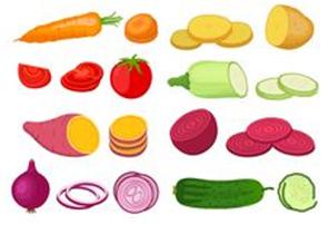 Food items in elliptical shape
