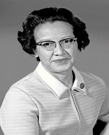 Black and white image of Katherine Johnson