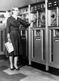 Black and White image of Grace Hopper