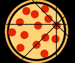 Uneven Pizza slices